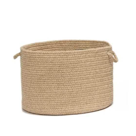 Natural Wool Basket, Light Beige, Large - West Elm