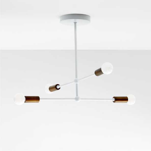 Sputnik White Flush Mount Ceiling Light - Crate and Barrel