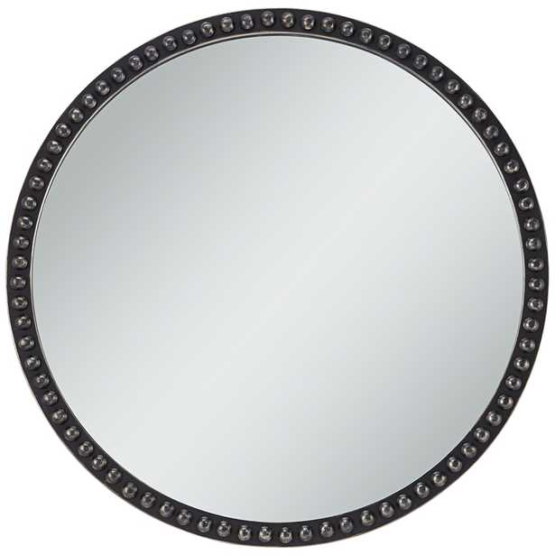 """Corwin Black 34"""" Round Metal Framed Wall Mirror - Style # 87X71 - Lamps Plus"""