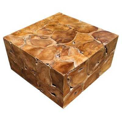 Artlone Solid Wood Block Coffee Table - Wayfair