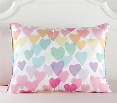 Evie Dream Heart Comforter, Standard Sham, Multi - Pottery Barn Kids
