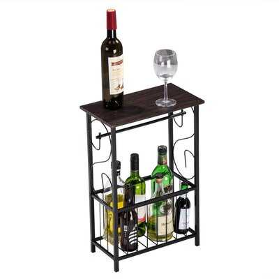 Industrial Side Table,End Telephone Table With 2-Tier Mesh Shelves,For Office Hallway Or Living Room,Wood Look Accent Furniture With Metal Frame - Wayfair