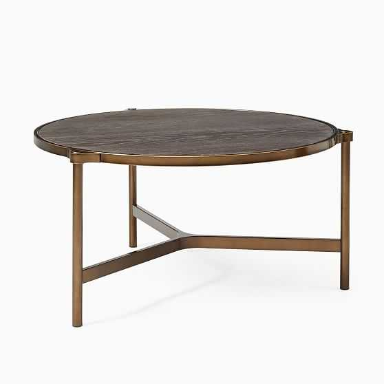 Mateo Collection Cerused Black Oil Rubbed Bronze 33 Inch Coffee Table - West Elm