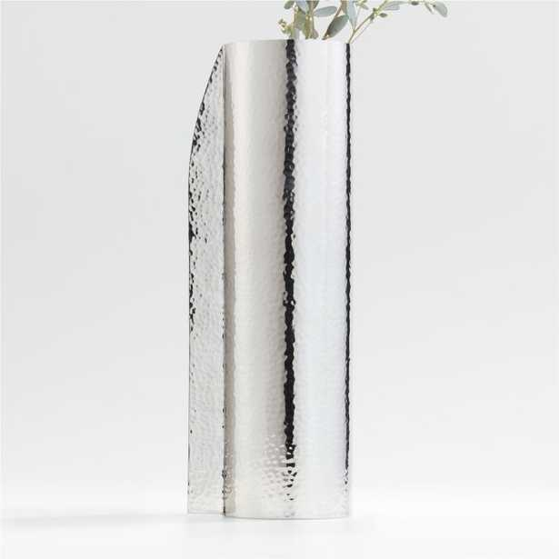 Coso Large Silver Metal Vase - Crate and Barrel