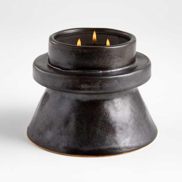 Chloe Medium Black Candle - Crate and Barrel