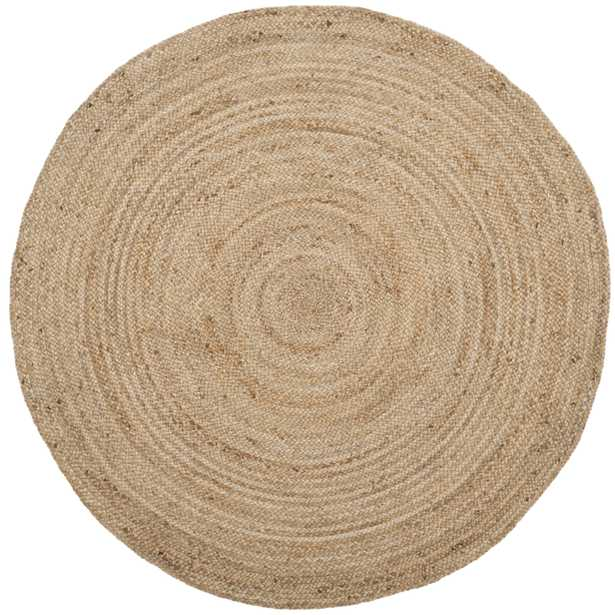 Arlo Home Hand Woven Area Rug, NF801N, Natural/Natural,  8' X 8' Round - Arlo Home