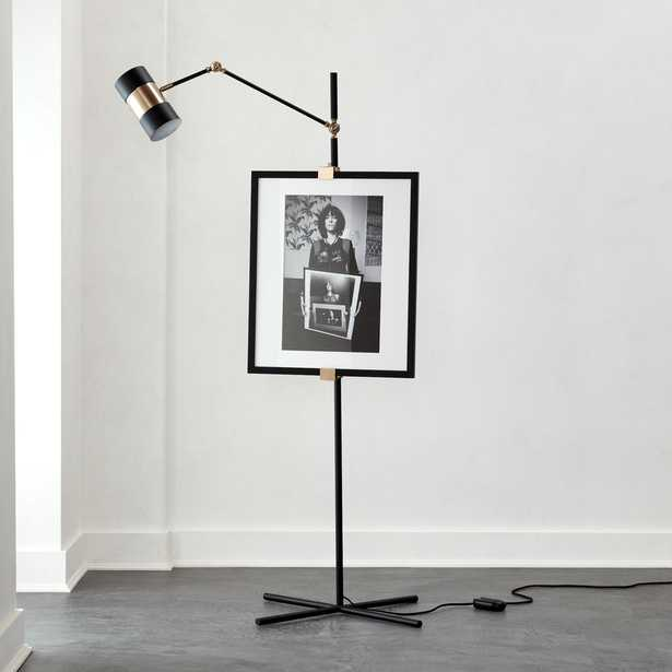 Art Easel Floor Lamp Black - CB2