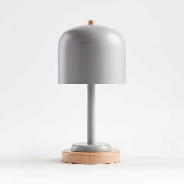 Grey Modern Dome Touch Table Lamp - Crate and Barrel