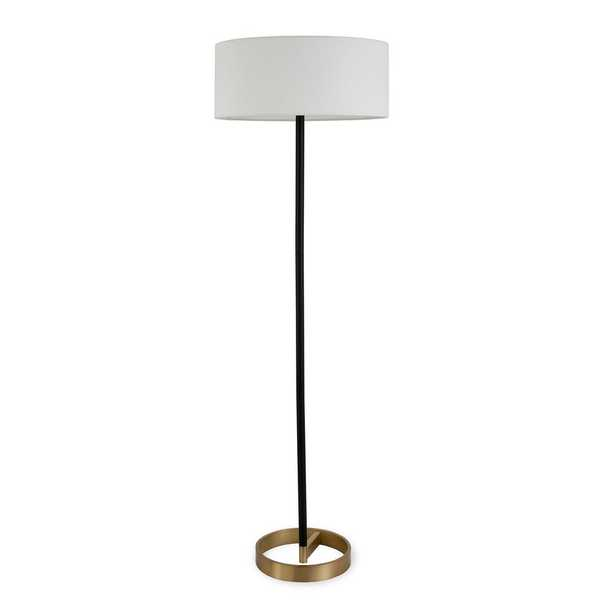 Hudson&Canal Estella 62 in. Black and Brass Floor Lamp - Home Depot