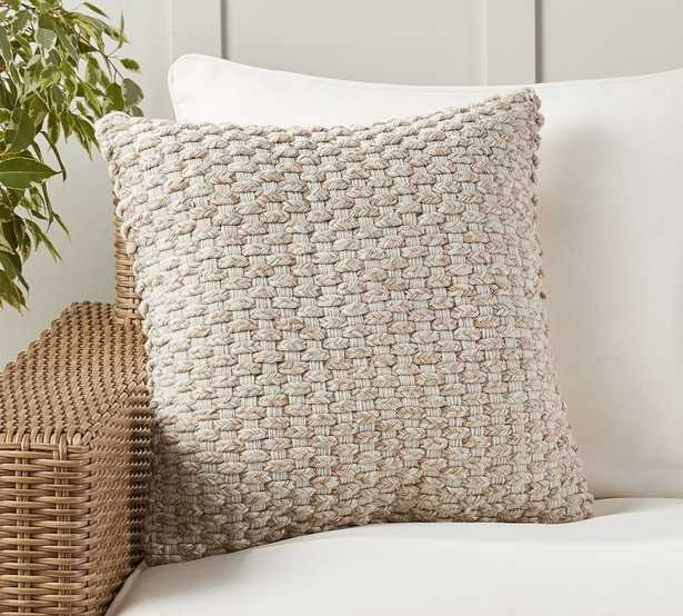"""Cadyn Textured Indoor/Outdoor Pillow, 20 x 20"""", Neutral - Pottery Barn"""