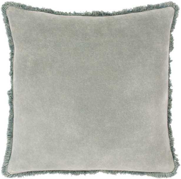 "Reina Pillow Cover, 18"" x 18"", Sea Foam - Roam Common"
