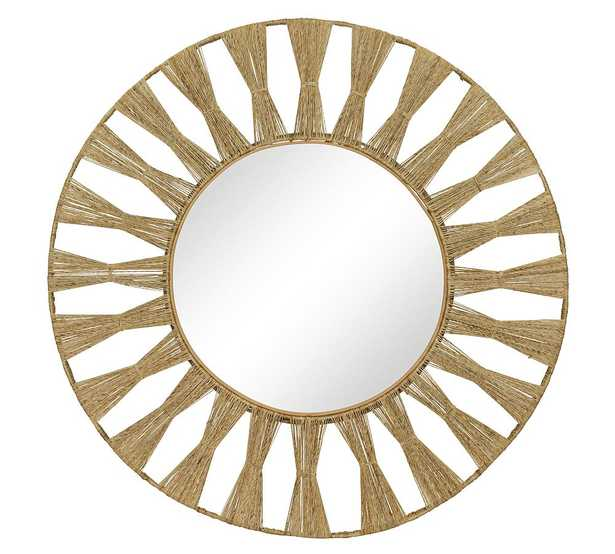 "Laguna Jute Round Mirror, 40"" x 40"" - Pottery Barn"