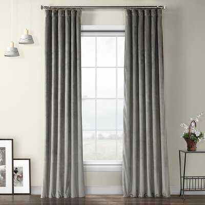 Bagwell Velvet Solid Color Room Darkening Thermal Rod Pocket Single Curtain Panel - Birch Lane