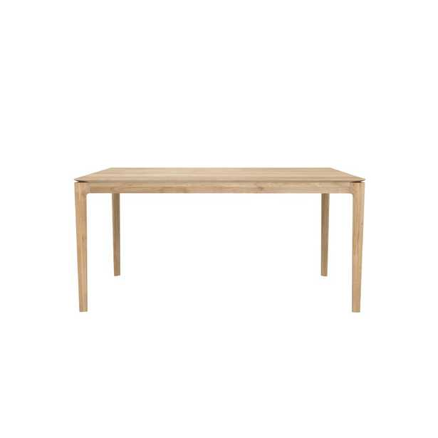 """Ethnicraft Bok Solid Wood Dining Table Color: Natural Oak, Size: 30"""" H x 63"""" L x 32"""" W - Perigold"""