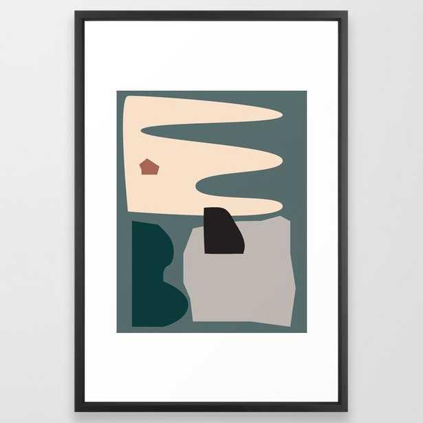 // Shape Study #21 Framed Art Print by Mpgmb - Vector Black - LARGE (Gallery)-26x38 - Society6