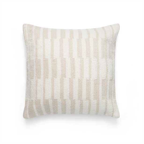 The Crossfade Pillow Cover in Oat & White - Burrow