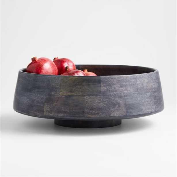 Katin Black Wood Centerpiece Bowl - Crate and Barrel