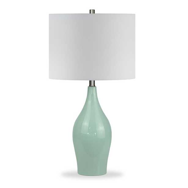 Hudson&Canal Niklas 28-1/4 in. Teal Blue Table Lamp - Home Depot