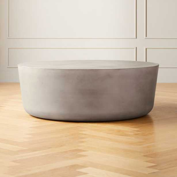 Cap Grey Large Cement Coffee Table - CB2