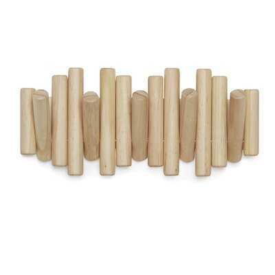 Solid Wood 5 - Hook Wall Mounted Wall Hook - AllModern