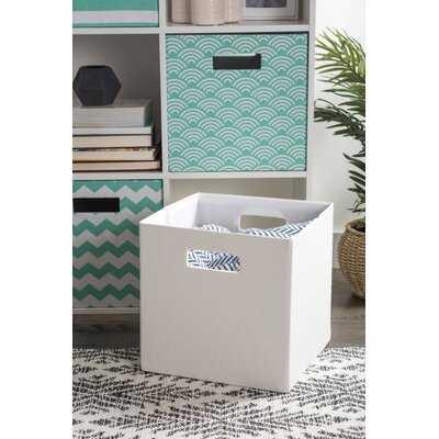 Cube Solid Fabric Bin - Wayfair