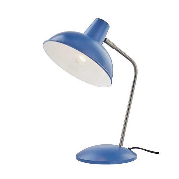 Light Society Retro Hylight Blue Desk Lamp - Home Depot