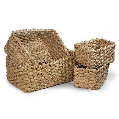 Braided Utility 4 Piece Wicker Basket Set - Wayfair