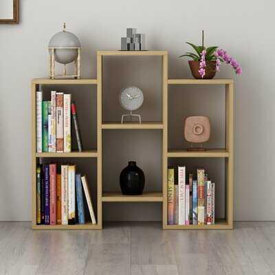 "Babajide 30"" H x 33"" W Geometric Bookcase - Wayfair"