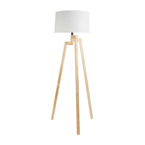 "Silverwood Escada 58.75"" Wood Tripod Floor Lamp with Lamp Shade - Home Depot"