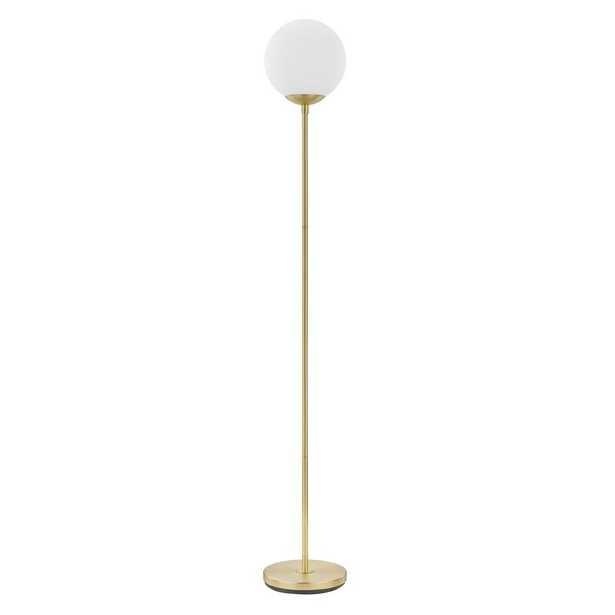 Light Society Zeno Globe Brushed Brass Floor Lamp - Home Depot