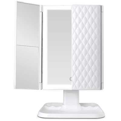 Feller Lighted Magnifying Makeup Mirror - Wayfair