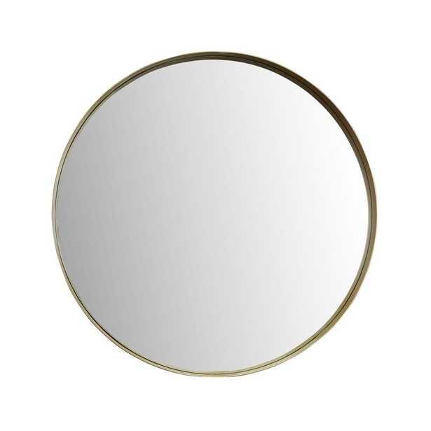 Eagan Round Gold Wall Mirror - Home Depot