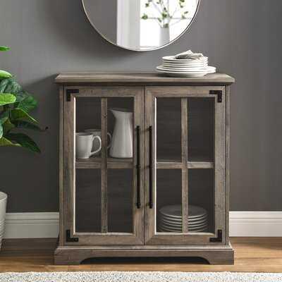 Modern Farmhouse Windowpane 2-Door Accent Cabinet - Wayfair