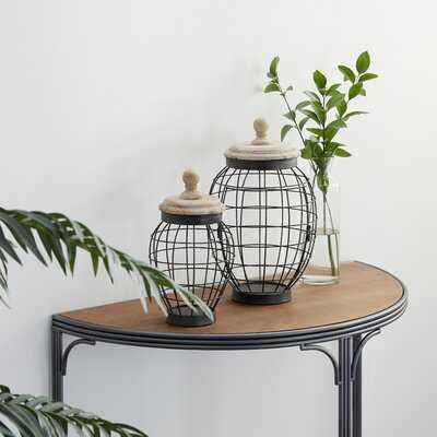 2 Piece Multi Metal Jar Set - Wayfair