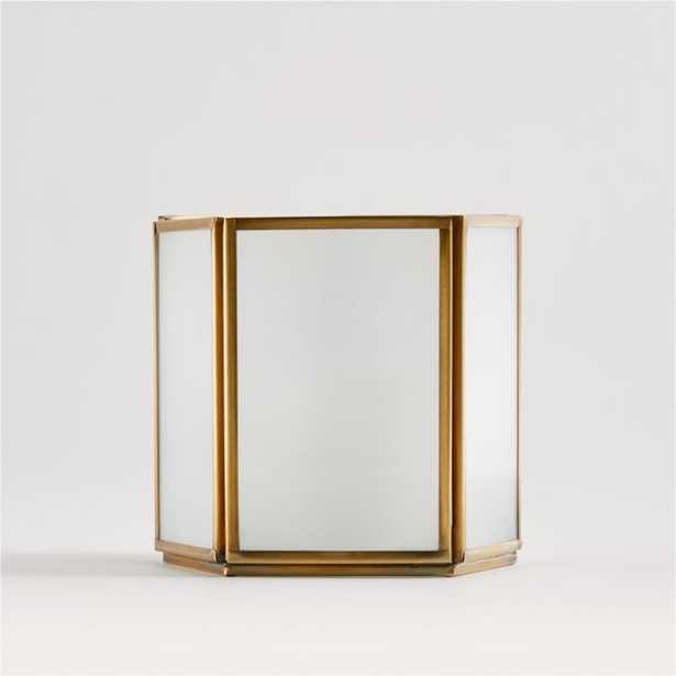 Andelyn Small Frosted Glass Hurricane - Crate and Barrel
