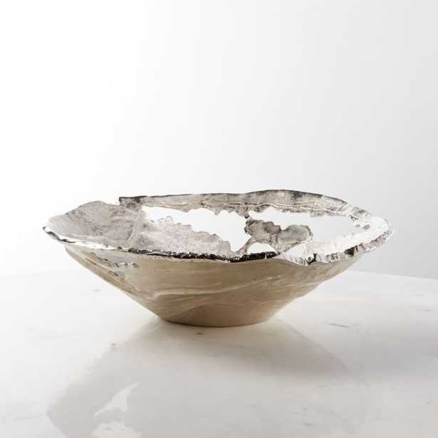 Hailey Wide Silver Decorative Bowl - Crate and Barrel