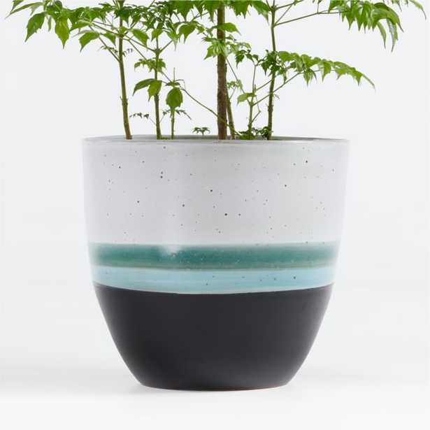 Aveiro Large Blue Planter - Crate and Barrel