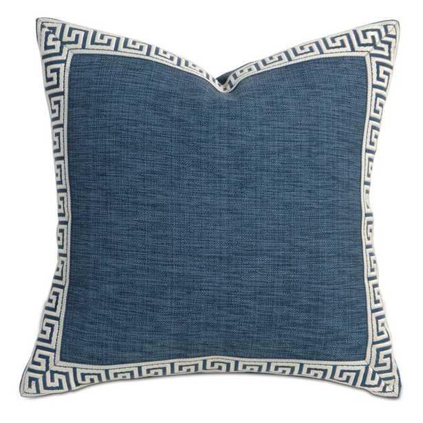 Eastern Accents Barclay Butera Greek Key Border Throw Pillow Color: Indigo - Perigold