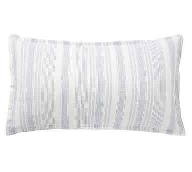 Hawthorn Stripe Cotton Sham, King, Blue - Pottery Barn