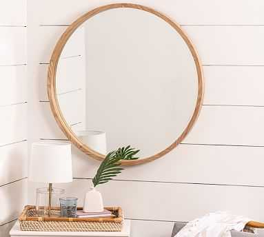 """Silverdale Round Mirror, Natural, 34"""" x 34"""" - Pottery Barn"""