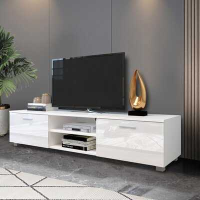 TV Cabinet TV Stands, Media Console Entertainment Center Television Table, 2 Storage Cabinet With Open Shelves, White - Wayfair