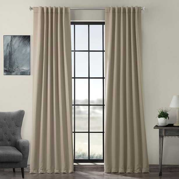 Exclusive Fabrics & Furnishings Semi-Opaque Classic Taupe Beige Blackout Curtain - 50 in. W x 84 in. L (Panel) - Home Depot