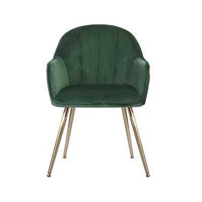 Julian Velvet Upholstered Arm Chair - Wayfair