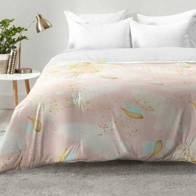 Abstract Painting with Feather Strokes Comforter Set - AllModern