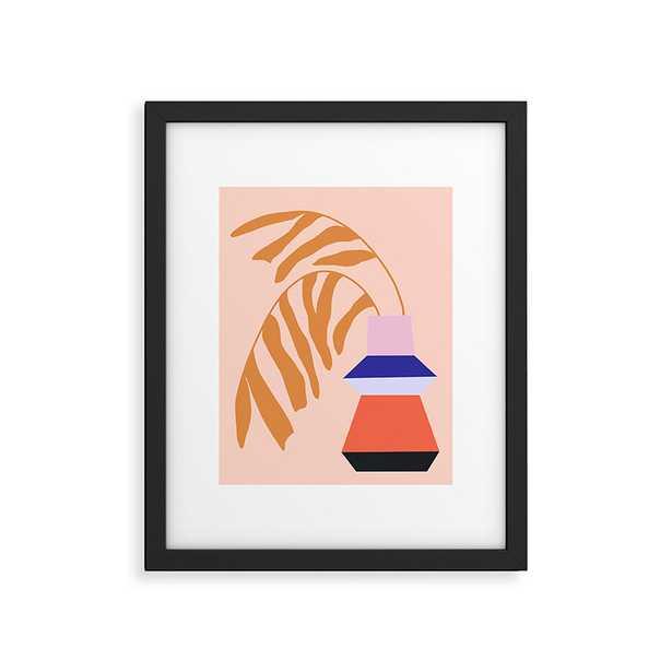 "Say Hi by Jae Polgar - Modern Framed Art Print Black 11"" x 14"" - Wander Print Co."