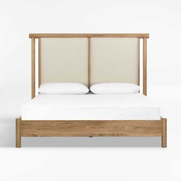 Edgebrook King Upholstered Wood Bed - Crate and Barrel