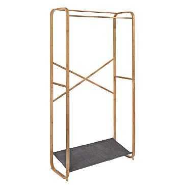 Bamboo & Canvas Garment Rack - West Elm