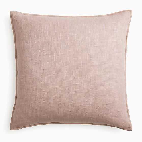 "Classic Linen Pillow Cover, 24""x24"", Adobe Rose - West Elm"