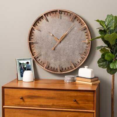 "Oversized Rosalind 26.5"" Wall Clock - Wayfair"