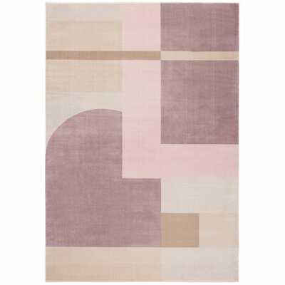 Georgie Geometric Pink/Light Purple Area Rug - Wayfair